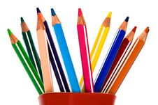 Beautiful Color Pencils Stock Photos