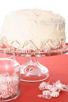 Free Peppermint Candy Cake Isolated Royalty Free Stock Images - 6238959