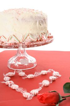 Free Valentines Peppermint Cake Royalty Free Stock Image - 6239006