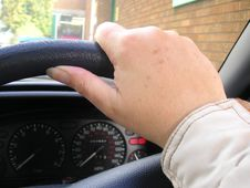 Free Hand On Steering Wheel Royalty Free Stock Image - 6239056