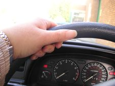 Free Left Hand On Steering Wheel Stock Images - 6239174
