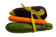 Free Vegetables With Measuring Tape Royalty Free Stock Photography - 6239327