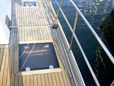 Sail Boat Deck Royalty Free Stock Image