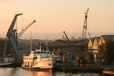 Boat At Dockyard Royalty Free Stock Photography