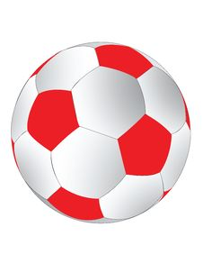Free Red And White Soccerball Stock Photos - 6239633