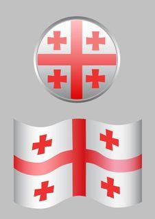 Free Georgia Flag Royalty Free Stock Photo - 6239645