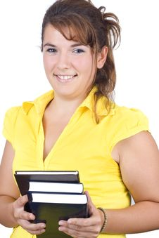 Free Girl With Books Royalty Free Stock Photo - 6239815