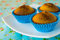 Free Muffins On Blue Background Royalty Free Stock Photos - 62356748
