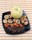 Free Dry Fruit And Apple Stock Photography - 6242232