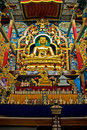 Free Golden Budha Surrounded By Colorful Statues Royalty Free Stock Images - 6248669