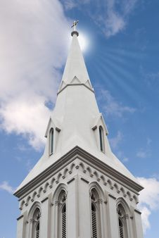 Free Church Steeple Royalty Free Stock Photos - 6240238