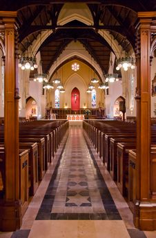 Free Church Inside Stock Image - 6240411