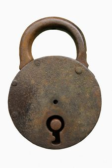 Free Closed Padlock, Old Royalty Free Stock Photos - 6240418