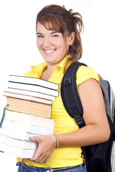 Free Girl With Books Royalty Free Stock Photos - 6240528