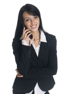 Free Businesswoman - Funny Phone Call Royalty Free Stock Images - 6240829