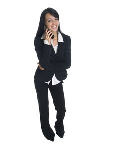 Free Businesswoman - Funny Phone Call Stock Photos - 6240873