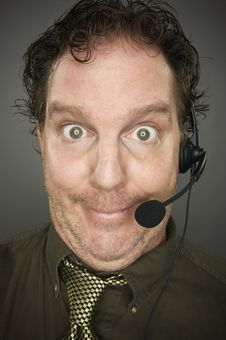 Giddy Businessman Smiles Stock Photos