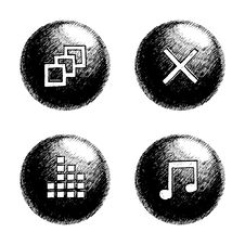 Free Sketchy Orb Button Royalty Free Stock Photos - 6241288