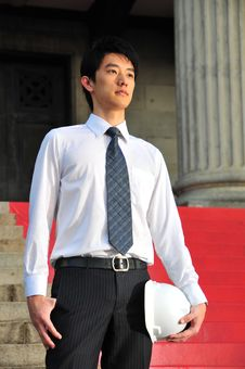 Young Asian Engineer 2 Stock Images