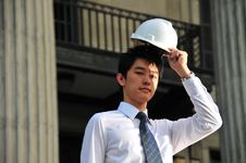 Young Asian Engineer 10 Royalty Free Stock Image