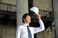 Young Asian Engineer 11 Royalty Free Stock Photography