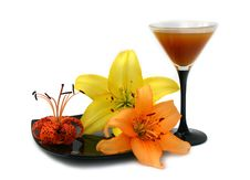 Free Wineglass With Peach Juice Stock Images - 6241814
