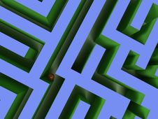 3D Labyrinth Royalty Free Stock Photography