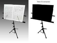 Free Black Metal Desk With A Music Book Stock Photo - 6242040