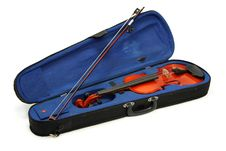 Free Blue Case And Violin Royalty Free Stock Images - 6242049
