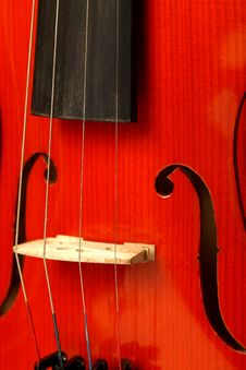 Free Fragment Of Violin Stock Photography - 6242212