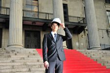 Successful Asian Engineer 10 Royalty Free Stock Images