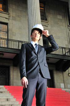 Successful Asian Engineer 12 Royalty Free Stock Photos