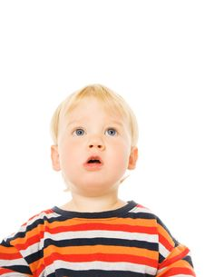Free Beautiful Toddler Looking Up Royalty Free Stock Photos - 6243098