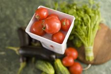 Free Kitchen Scale And Vegetables Stock Photo - 6243190