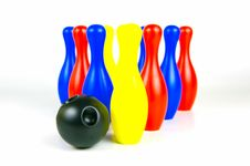 Ten Pin Bowling Royalty Free Stock Photos