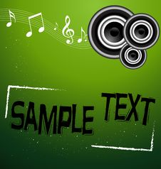 Free A Beautiful Abstract Music Design Vector Royalty Free Stock Photo - 6244185