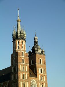 Mariacki Church In Cracow Stock Photo