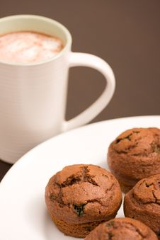 Free Muffins And Hot Chocolate Stock Photo - 6244430