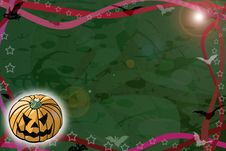 Free Halloween - Green Background Royalty Free Stock Photography - 6244507