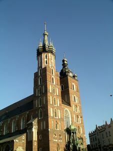 Mariacki Church In Cracow Stock Image