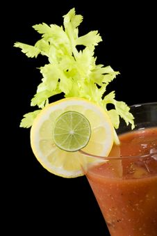 Bloody Mary Closeup Stock Photo