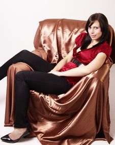 Free Portrait Of Beautiful Brunette Woman Stock Photo - 6244800
