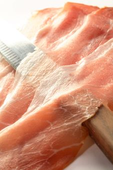 Free Ham And Knife Royalty Free Stock Photo - 6244875