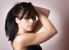 Free Portrait Of Beautiful Brunette Woman Stock Photo - 6245070