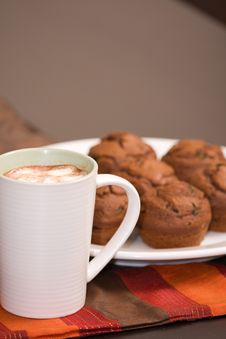 Free Hot Chocolate And Muffins Stock Photo - 6245340