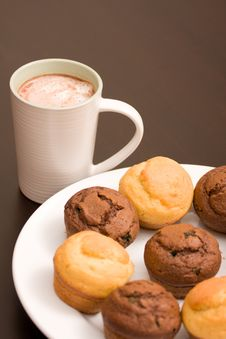 Free Hot Chocolate And Muffins Royalty Free Stock Photos - 6245348