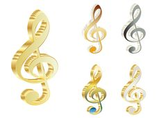 Free 3d Treble Clef Stock Photos - 6245453