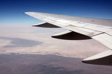 Free Airplane Wing In Sky Royalty Free Stock Photography - 6245647