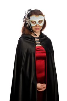 Free Brunette With Venetian Mask Stock Images - 6245684