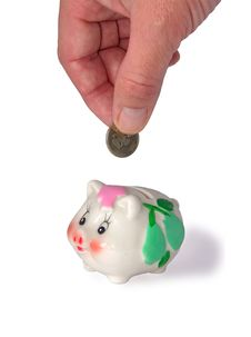 Free Deposits Coin In Piggy Bank Royalty Free Stock Photography - 6245687